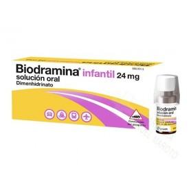 BIODRAMINA INFANTIL 24 MG SOLUCION ORAL, 5 ENVASES UNIDOSIS DE 6 ML